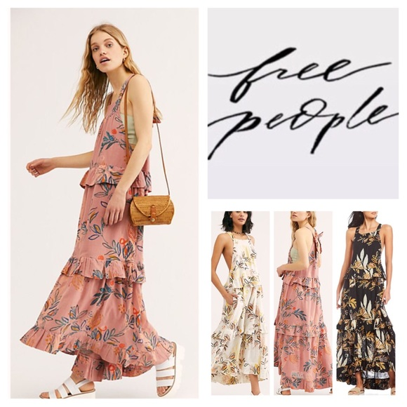 Free People Dresses & Skirts - Free People Anita Tiered High Low Maxi Dress. NWT.